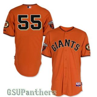 Tim Lincecum Authentic 2011 San Francisco Giants Alt Orange Jersey Sz