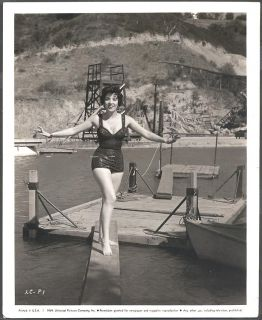 Photo Hollywood Movie Star Linda Cristal Swimsuit Pin Up Pretty Girl