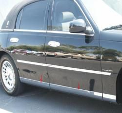 03 09 Lincoln Town Car Lower Rocker Panel Molding Trim 12pc