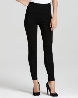 Lisse Leggings New Black Seamed Stretch Knit Flat Front Leggings M