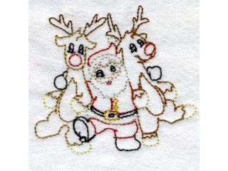 Line Art Dancing Christmas Machine Embroidery Designs