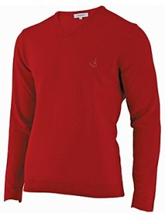 Calvin Klein Golf Super wool v neck sweater Red