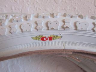 RARE White GT Made GT Freestly Tires Old School BMX Dyno 20 x 1 75