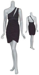 BCBG MAXAZRIA Little Black Ruched Dress Small 4 6 New