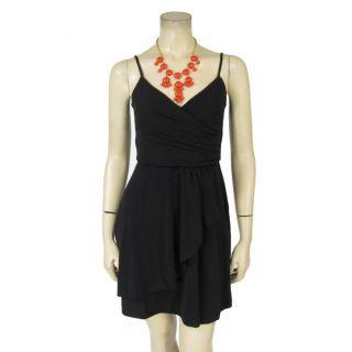 Slinky Little Black Stretch Dress Petite and Bubble Statement Necklace