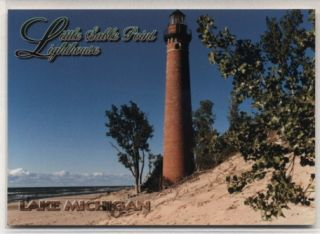 Little Sable Point Lighthouse Lake Michigan MI Postcard