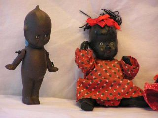 Black Dolls 2 Porcelain Baby Dolls 1 Cupid 1 New Orleans Bell