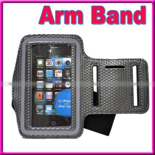 Red Sports Armband Pouch Cover Case for Apple iPhone 3G 3GS 4 4S iPod