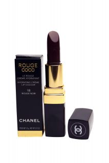 Chanel Rouge Coco Hydrating Creme Lipstick 18 Rouge Noir 3 5 G 0 12 Oz