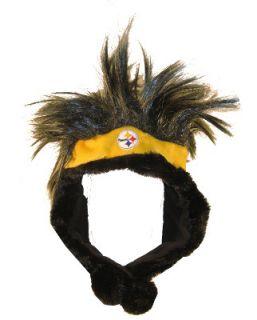 Pittsburgh Steelers NFL Football Short Troll Dangle Winter Hat