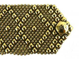 Sergio Gutierrez Liquid Metal Cuff Bracelet Style B10 24K Gold GB10