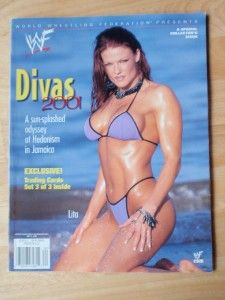 2001 Wrestling Magazine Lita Kat Chyna Trish Stratus Set 3 of 3