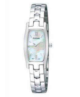 Pulsar Watch, Womens Stainless Steel Bangle Bracelet 18mm PEGG11