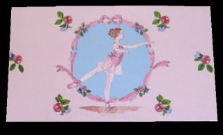 Little Girls Ballet Slipper Arabesque One Drawer Music Jewelry Box