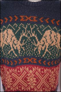 sweater FIGHTING ELK nordic SKI LODGE alpine CLASSIC reindeer m l L99