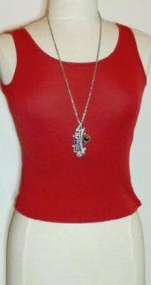 Patricia Locke Silver Heather Linear Design Pendant Necklace 30 Chain