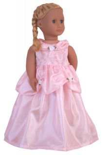 Pink Princess Cinderella Dress Up Costume 15 20 Doll