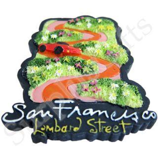 San Francisco Lombard Street 3D Resin Fridge Magnet