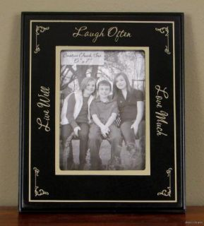 Live Laugh Love Family 5x7 Photo Frame Primitive Black Home Decor