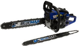 New 45 CC Gas Chain Saw 15 20 Dual Chainsaw Blue Max Anti Vibrate