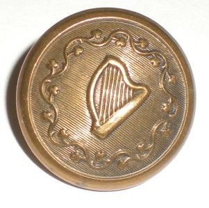 CIVIL WAR IRISH BRIGADE MILITARY UNIFORM BUTTONs ,CONFEDERATE? 4 HARP