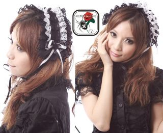Gothic Lolita Fairy Double Ruffles Rose Angel Headdress