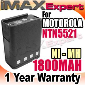 1800mAh NTN5521 NTN5447BR Two Way Radio Battery ft MOTOROLA MT1000