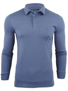 French Connection FCUK Mens Polo T Shirt Sneezy Long Sleeve
