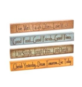 Live Well Laugh Often Love Much Wood Sign