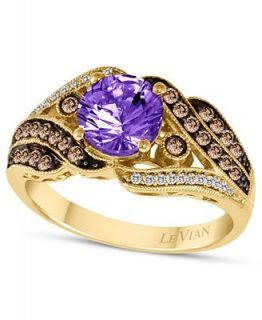 Le Vian 14k Gold Ring, Amethyst (1 ct. t.w.) and Chocolate and White