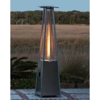 Well Traveled Living Pyramid Flame Patio Heater Stainless Steel 60523