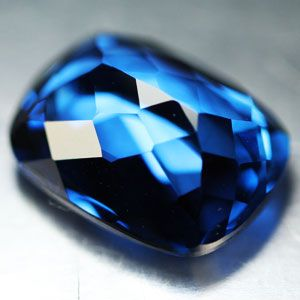 80ct Excellent London Blue Topaz Cushion Loose Gem