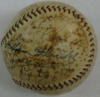 Lou Gehrig Autographed 1934 New York Yankees Signed Baseball JSA LOA