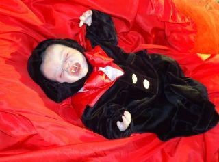 Reborn Vampire Gothic Doll Baby Quinton Marissa May Sculpt