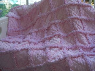 PLEASE NOTE: THIS IS A MADE TO ORDER RAG QUILT. PLEASE ALLOW UP TO ONE