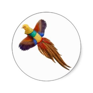Chinese Golden Pheasant Sticker