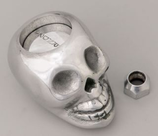 Lokar Shift Knob Skull Aluminum Polished Lokar Shifters Only 3 Speed