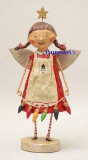 Lori Mitchell Tree Trimming Angel Christmas Folk Art Figurine