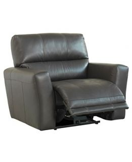 Judson Leather Power Recliner Chair, 43W x 38D x 39H
