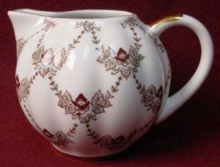 Lomonosov China Maroon Iris Pattern Creamer Cream Pitcher Jug