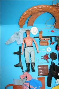 Vintage Lone Ranger Marx Gabriel Figure Doll and Parts Lot See