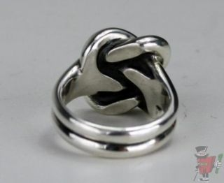 James Avery Bold Love Knot Sterling Silver Ring Size 7 5