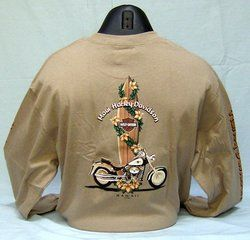 Maui Harley Davidson Mens 2XL Surfboard Lei Long Sleeve Tee