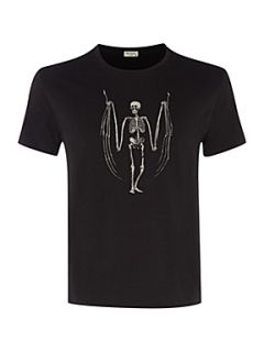 Paul Smith Jeans Crew neck skeleton print T shirt Black