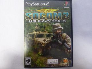 Lot of 2 PS2 Games Lego Indiana Jones SOCOM 3 U s Navy Seals