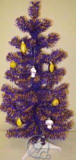 LSU Tigers Football 2 Foot Mini Articifial Christmas Tree w/ 12
