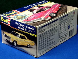 Boxed 1964 Chevy Impala Lowrider Revell Monogram Plastic Car Model Kit