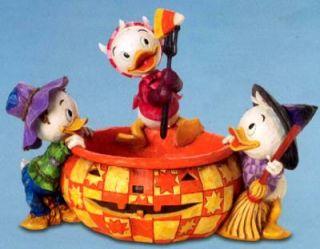 2006 Jim Shore Disney Trad Huey Dewey Louie w Pumpkin