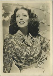 Loretta Young 1930s Vintage 5x7 Movie Star Fan Photo