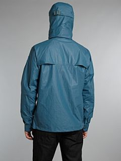 Paul Smith Jeans Deck jacket with hood and clip detail fastening Blue